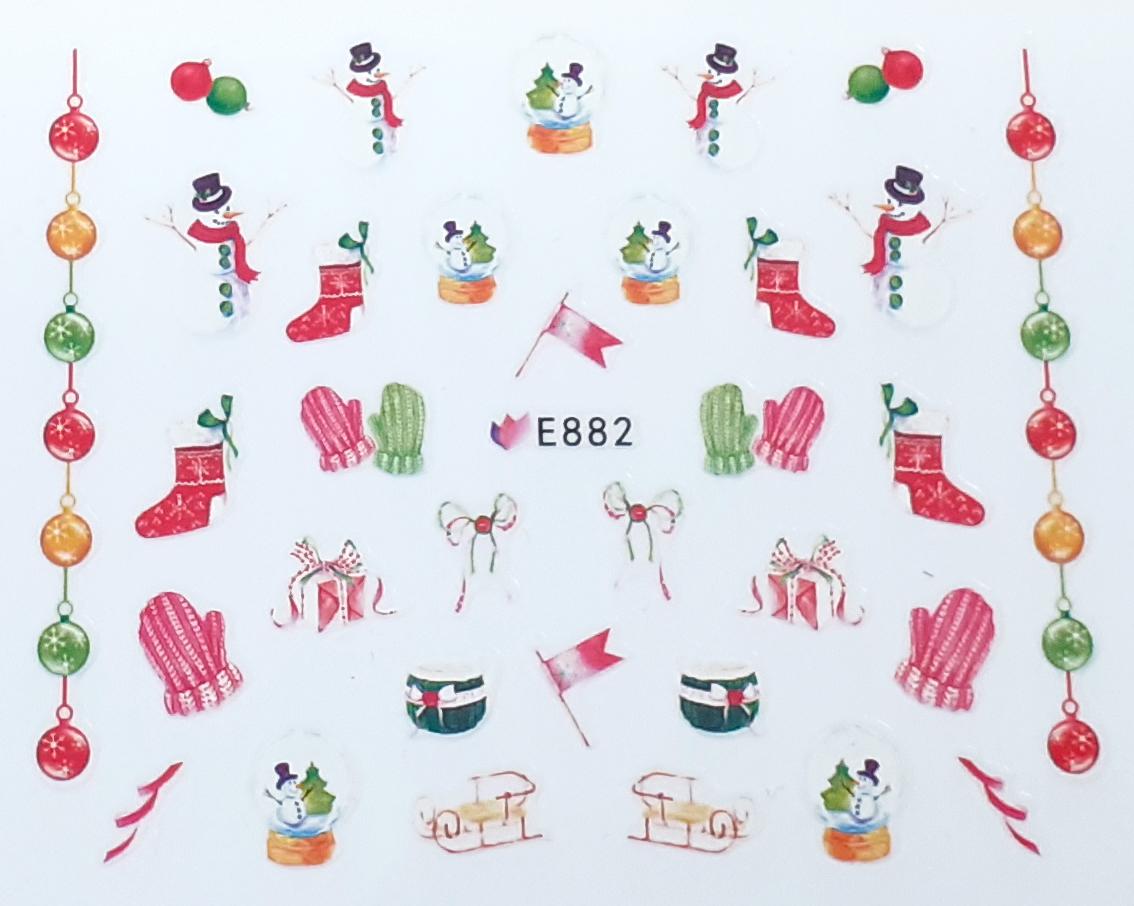 Sticker Weihnachten selbstklebend E882