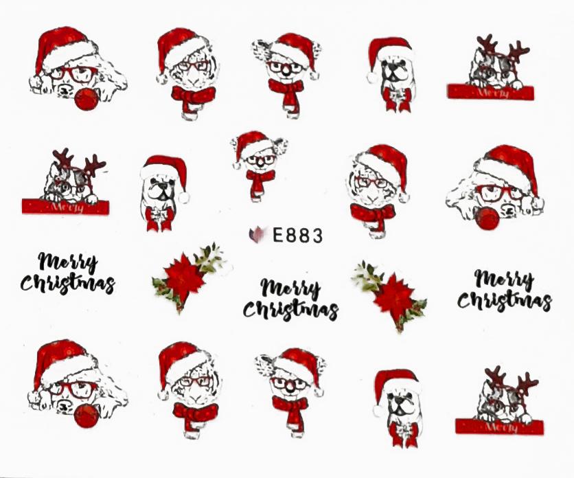 Sticker Weihnachten selbstklebend E883
