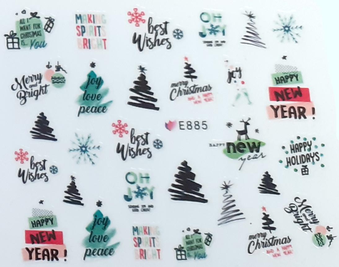 Sticker Weihnachten selbstklebend E885