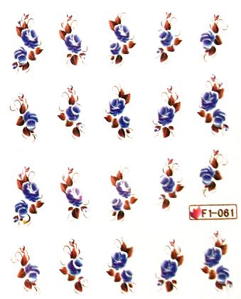 Wasserlösliche Sticker Rosen F1-061