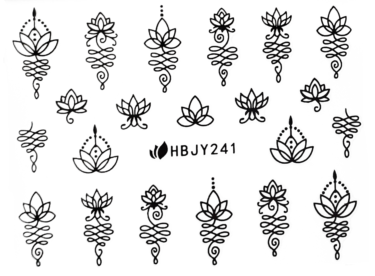 Sticker Ornamente HBJY-241 Mandalas schwarz