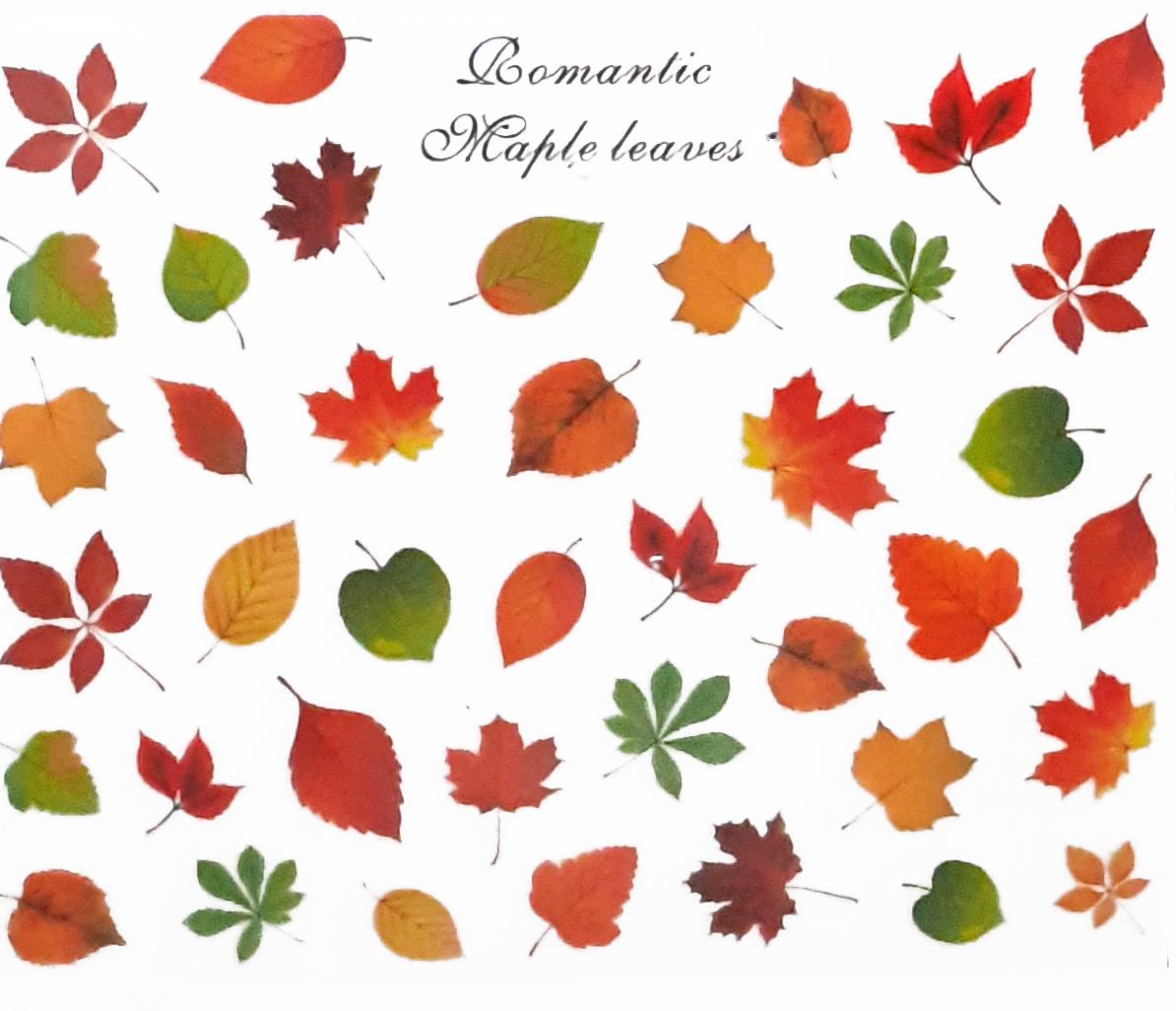 Sticker Herbstblätter Romantic farbig