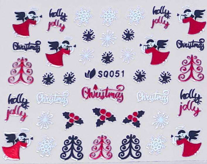 Sticker Weihnachten SQ051 selbstklebend