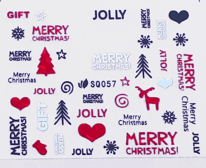 Sticker Weihnachten SQ057 selbstklebend
