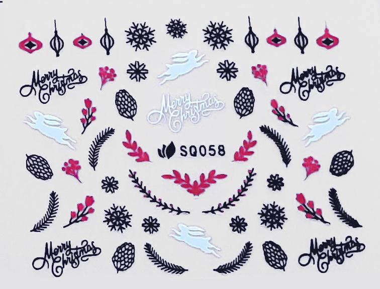 Sticker Weihnachten SQ058 selbstklebend