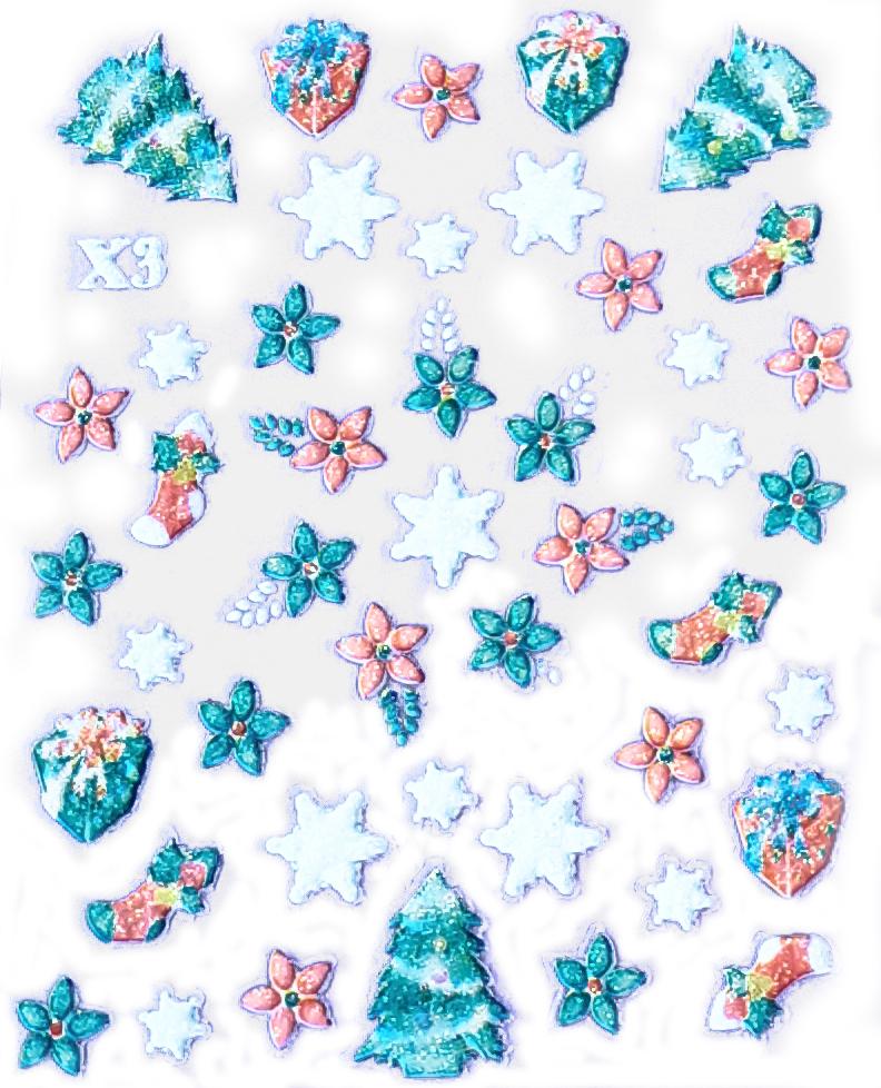 3D Sticker Weihnachten X-3