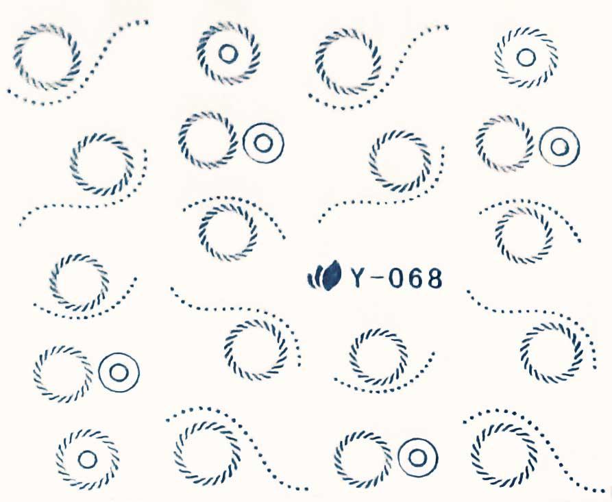Wasserlösliche Sticker Kreise Y-068 silber