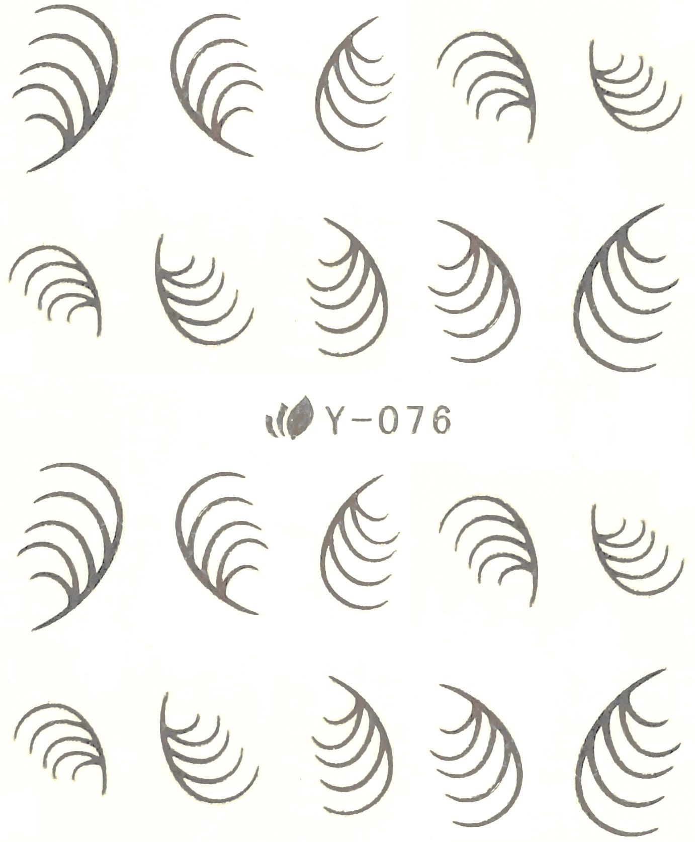 Wasserlösliche Sticker Ornamente Y-076 silber