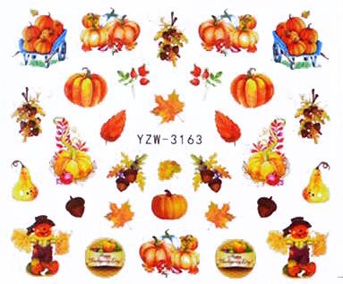 Wasserlösliche Sticker Herbstmotive YZW-3163