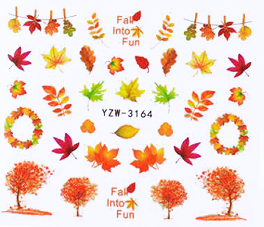 Wasserlösliche Sticker Herbstblätter YZW-3164