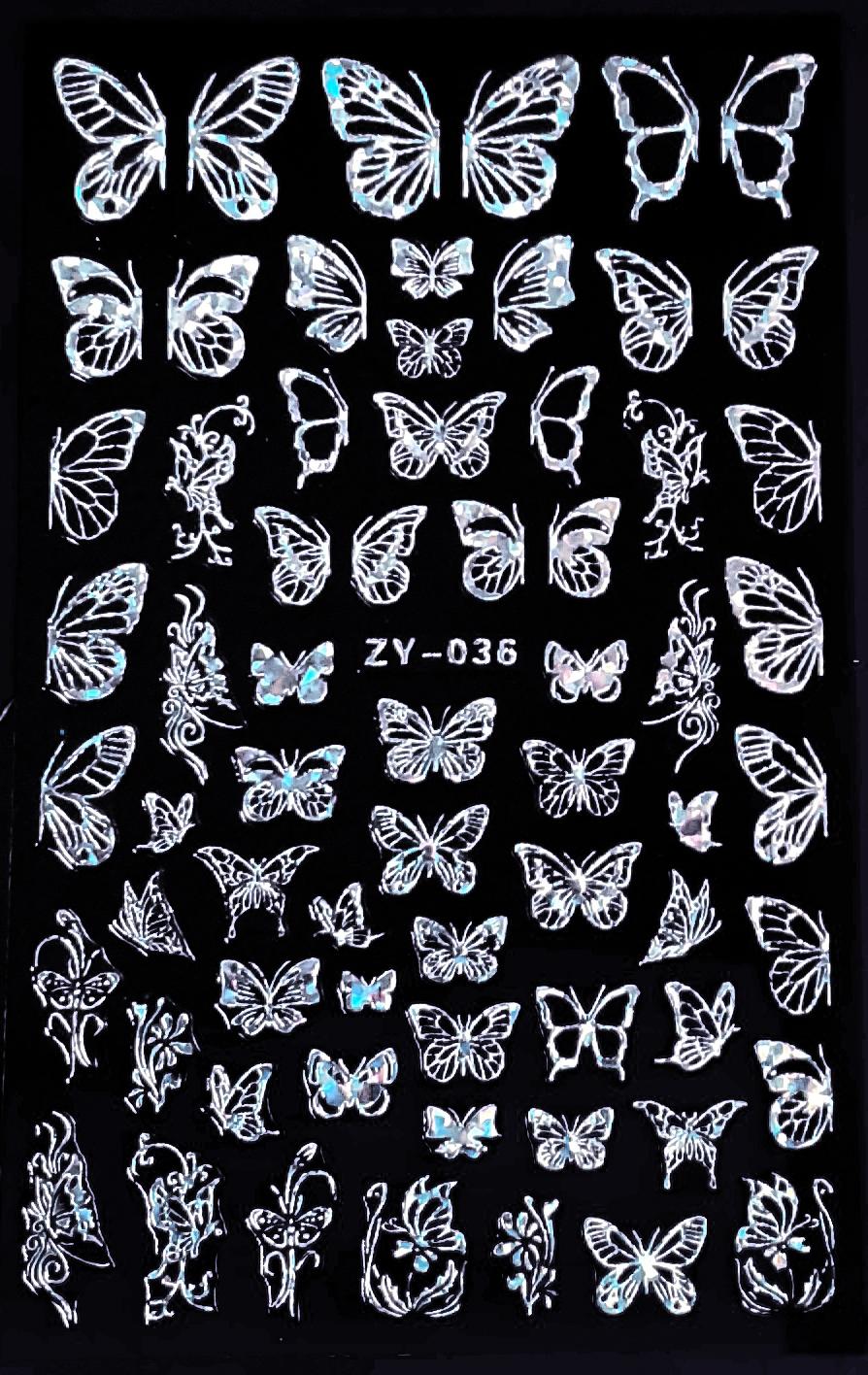 Sticker Schmetterlinge ZY-036 Maxi Bogen