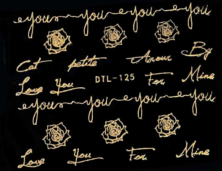 Nagelsticker gold edition DTL-125 Nagelaufkleber, Nail Tattoo, Nail Sticker