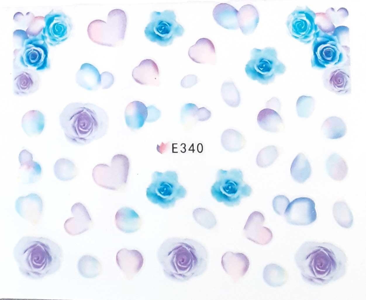 Nagelsticker Blumen pastell E-340 Nagelaufkleber, Nail Tattoo, Nail Sticker