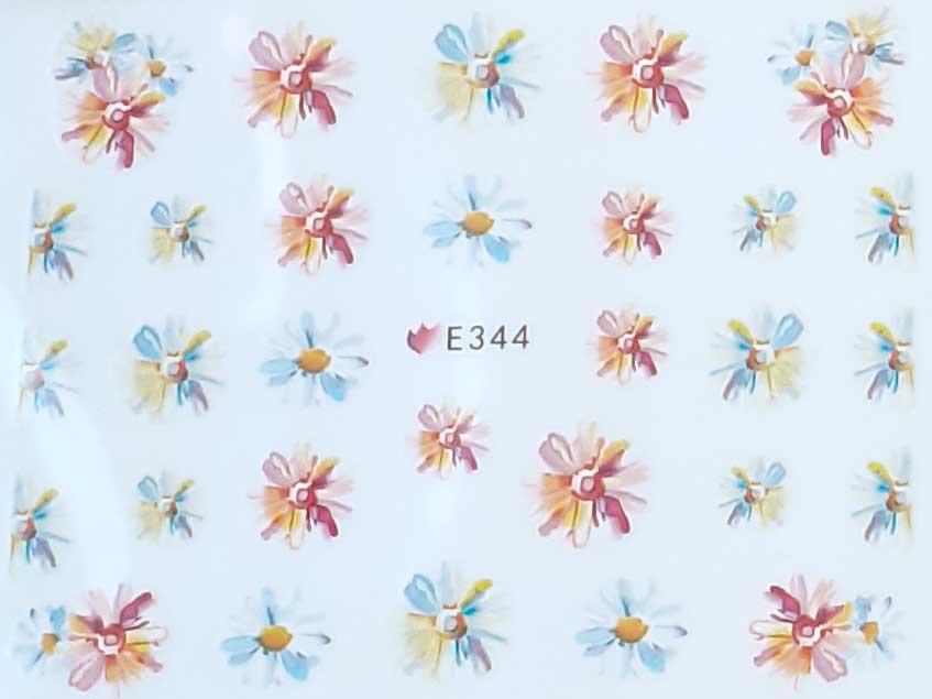 Nagelsticker Blumen pastell E-344 Nagelaufkleber, Nail Tattoo, Nail Sticker