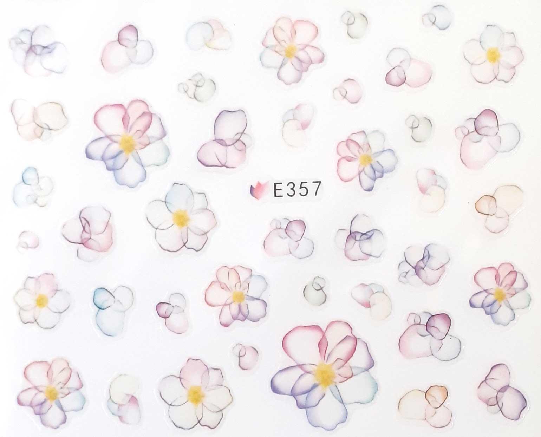 Nagelsticker Blumen pastell E-357  Nagelaufkleber, Nail Tattoo, Nail Sticker
