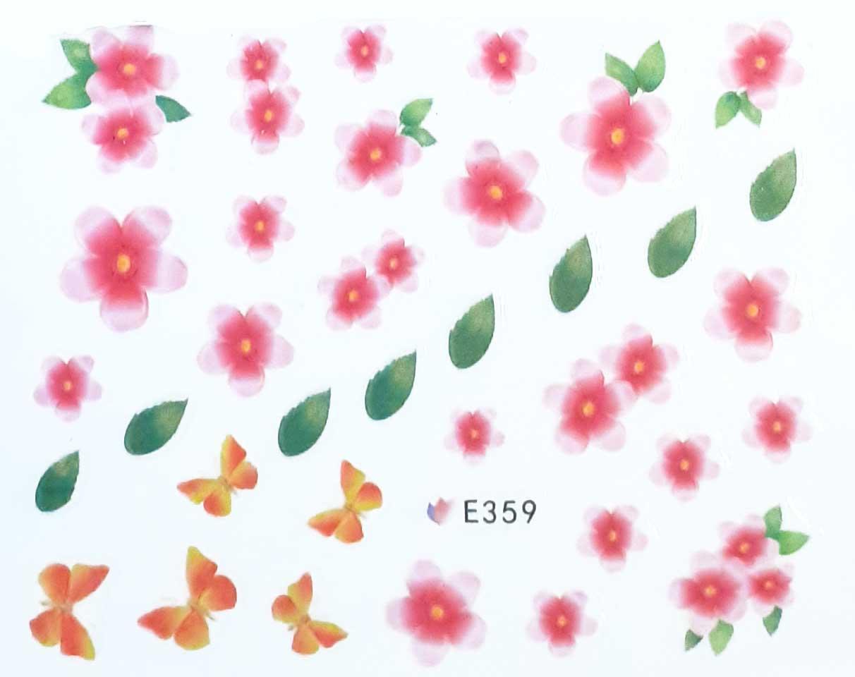 Nagelsticker Blumen pastell E-359