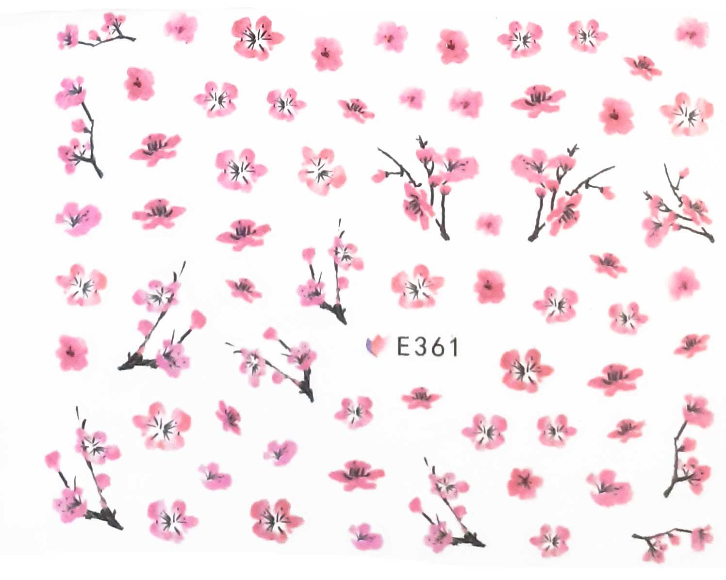 Nagelsticker Blumen pastell E-361 Nagelaufkleber, Nail Tattoo, Nail Sticker