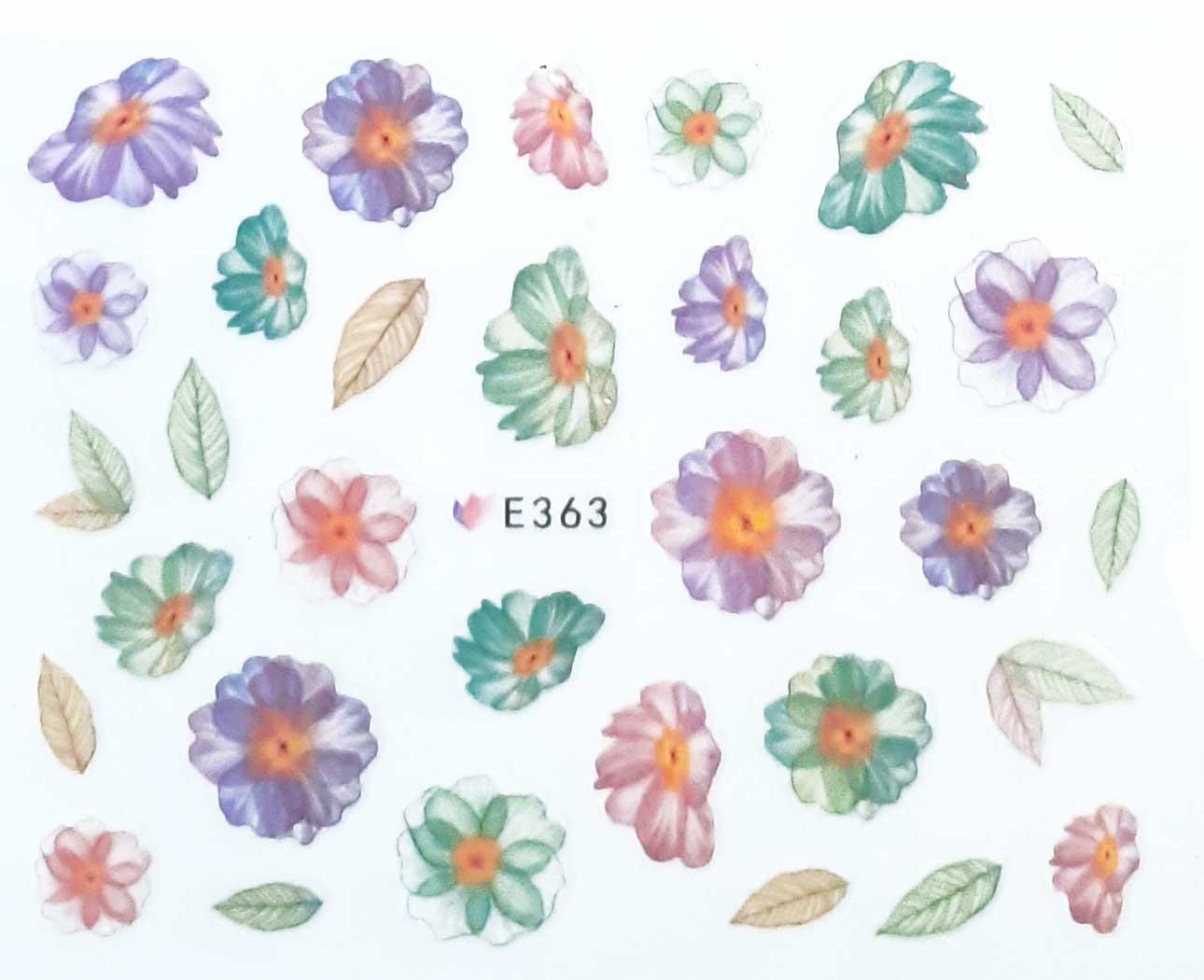 Nagelsticker Blumen pastell E-363  Nagelaufkleber, Nail Tattoo, Nail Sticker