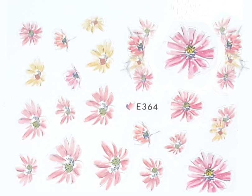 Nagelsticker Blumen pastell E-364