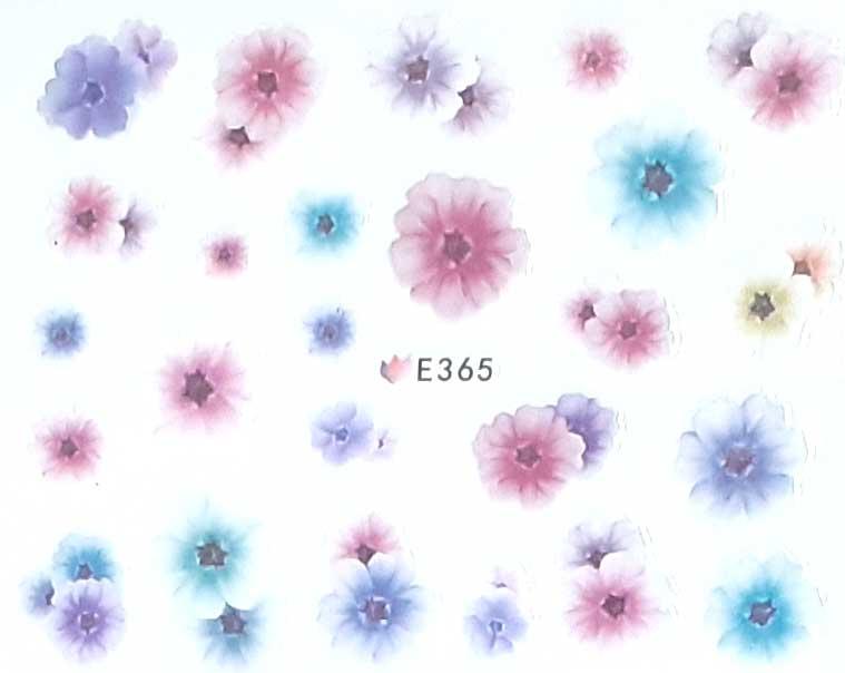 Nagelsticker Blumen pastell E-365