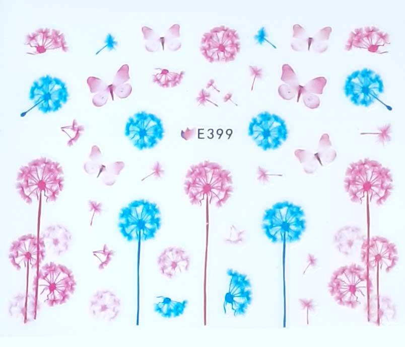 Nagelsticker Pusteblumen pastell E-399 Nagelaufkleber, Nail Tattoo, Nail Sticker