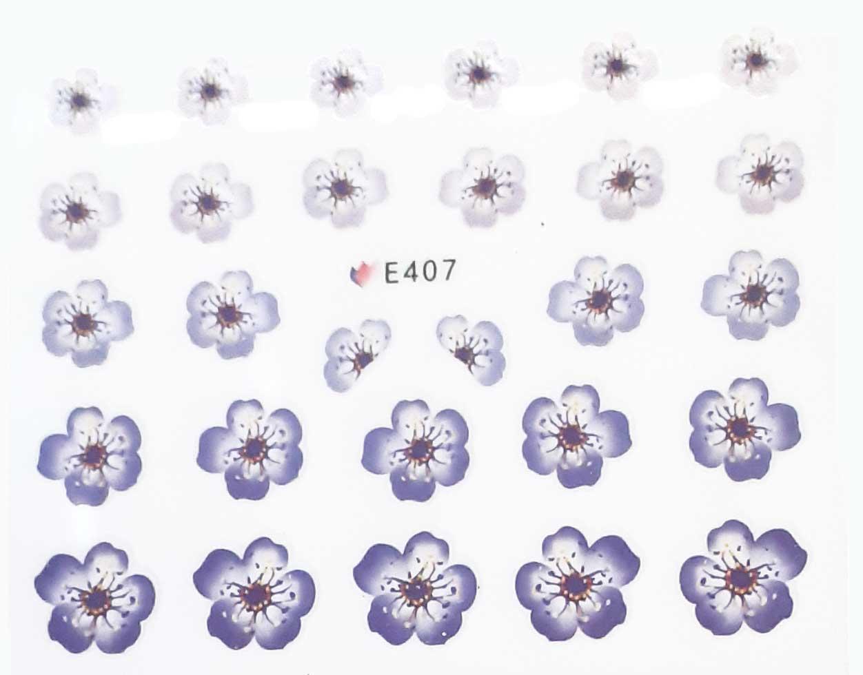 Nagelsticker Blumen pastell E-407 Nagelaufkleber, Nail Tattoo, Nail Sticker
