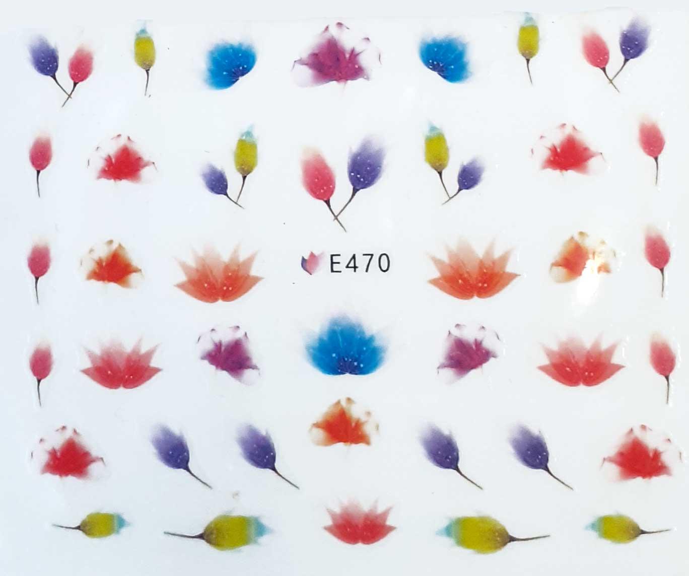 Nagelsticker Blumen pastell E-470  Nagelaufkleber, Nail Tattoo, Nail Sticker