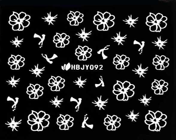 Sticker Blumen weiss HBJY-092