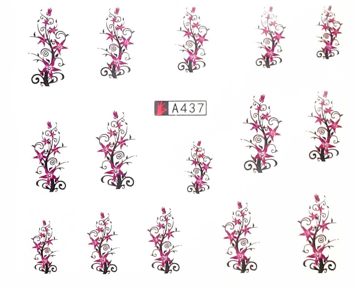 Wasserlösliche Nailsticker Blumen A-437 Ranken Nail Tattoo, Whatertattoo