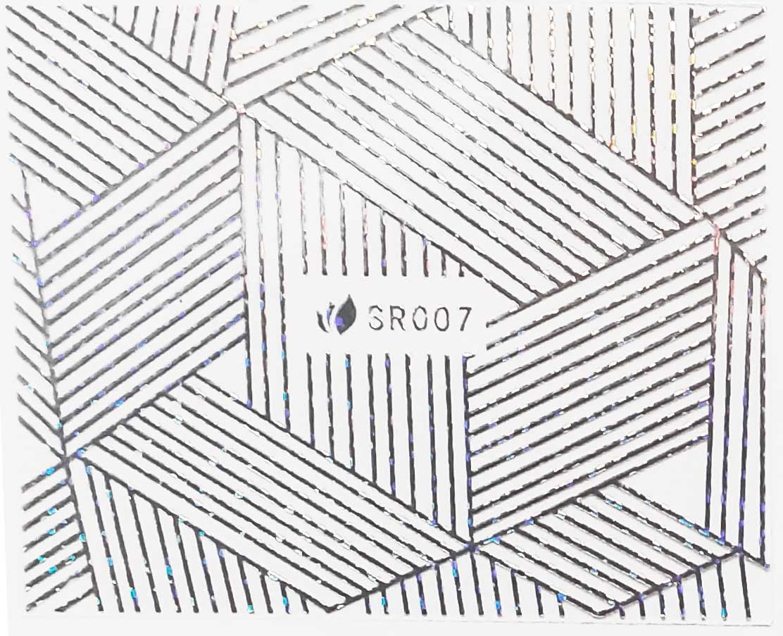 Sticker silber metal SR-007 strips Nailsticker, Nagelsticker, Nailtattoo, Lase Stripe