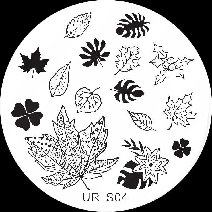 Stamping Schablone UR-S04 Blätter