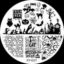 Stamping Schablone XY-G21 Halloween
