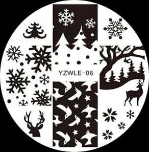 Stamping Schablone YZWLE-06 Winter